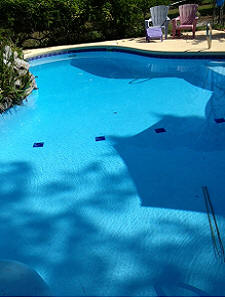 Ultra Poly One Coat - Blue painted pool.