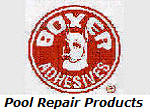 Boxer Adhesive vinyl pool repair products.