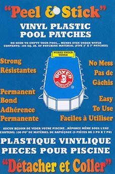 Boxer Peel & Stick Vinyl pool repair patches