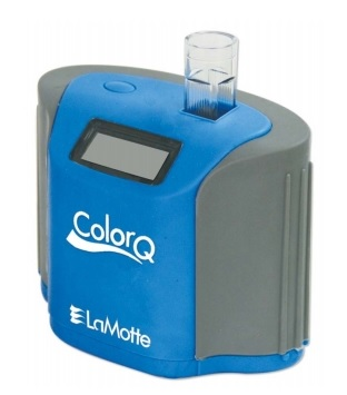 ColorQ all-digital photometer for pool and spa testing.