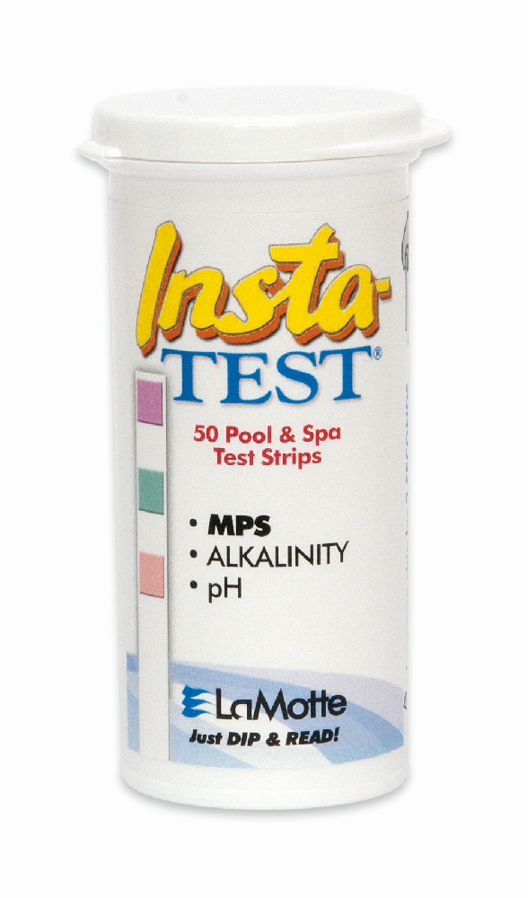 Insta-Test MPS (monopersulfate) pH and TA Pool and Spa Test Strips.