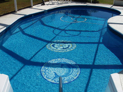 Graphic Pool Art Mats - 2 installed