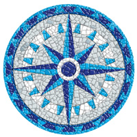 Pool Art Mosaics - Compass