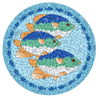 Pool Art Mosaics- Tropical Fish