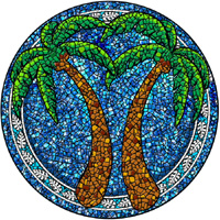 Pool Art Mosaics - Palm Trees
