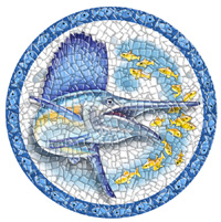 Pool Art Mosaics - Sailfish