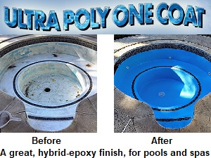 Ultra Poly One Coat, for spas and swim-spas.