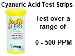 Insta-Test Cyanuric Acid Test Strips.
