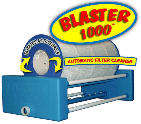 The Blaster 1000 Automatic Filter Cartridge Cleaner, for pools and spas.