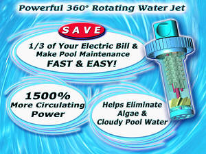 The Ciruclater replacement return jet fitting improves pool water circulation.