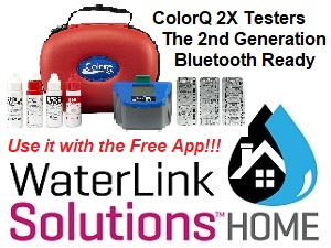 ColorQ 2X Testers are Bluetooth and can be used with the FREE WaterLink Solutions HOME App.
