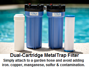 MetalTrap Dual-Cartridge Filter for pools and spa use.