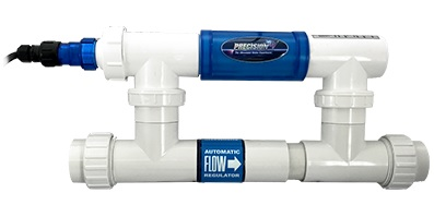 Precision UV Sterilizers, for pools up to 40,000 gallons.